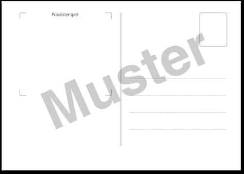 Postkarte Erinnerung Vorsorgeuntersuchung Terminplanung